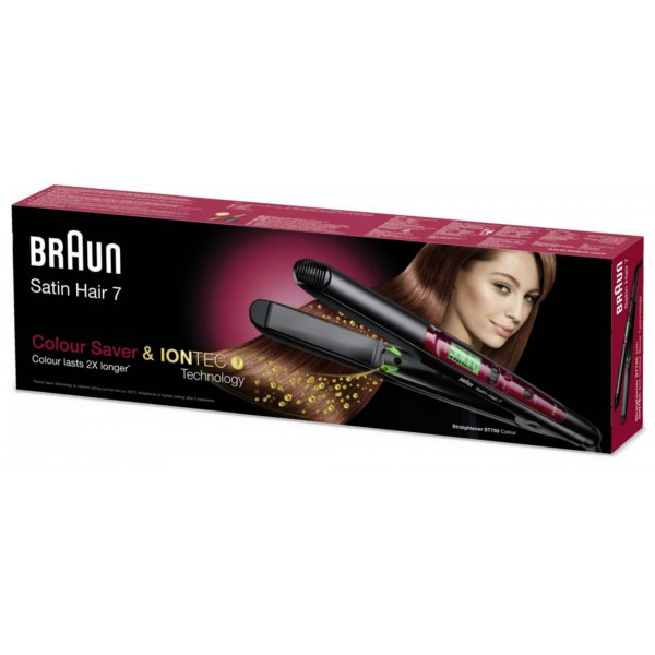 Braun Satin Hair 7 ST750 Hair Straightener With Color Saver And IONTEC Technology