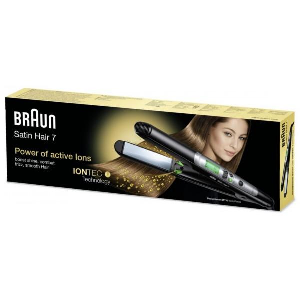 براون ساتين هير 7 ST 710 مملس شعر مع تقنية ايونتيك