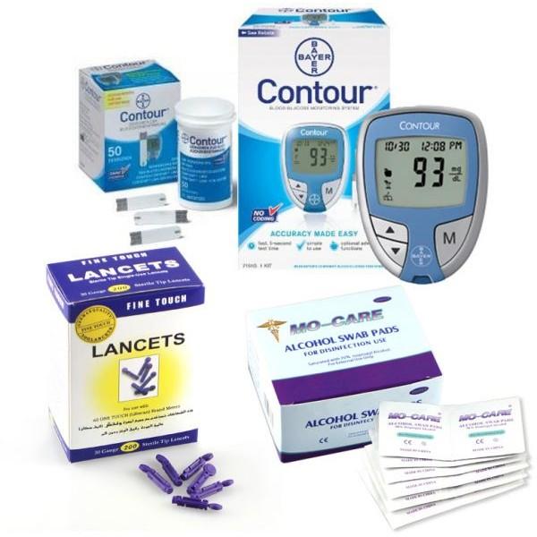 كونتور مجموعة جهاز قياس السكر في الدم