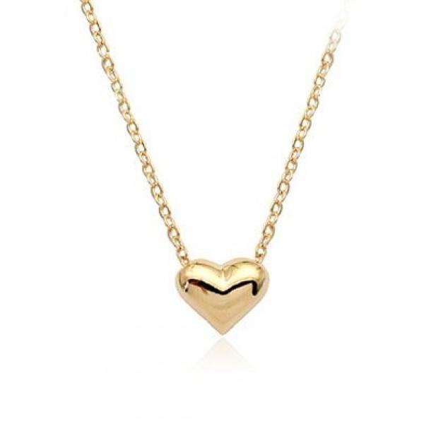 قلادة نسائية مطلية بالذهب (شكل قلب)