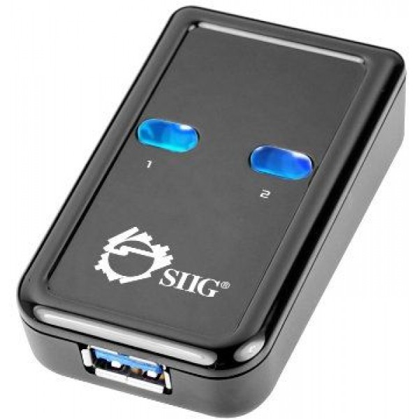 SIIG SuperSpeed USB 3.0 Switch 2-to-1 Adapter ‫(JU-SW0012-S1)