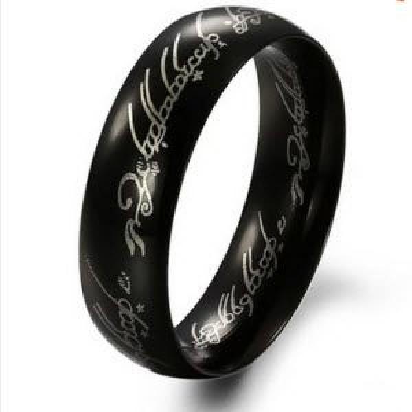 خاتم لورد أوف ذا رينق الرجالي باللون الأسود