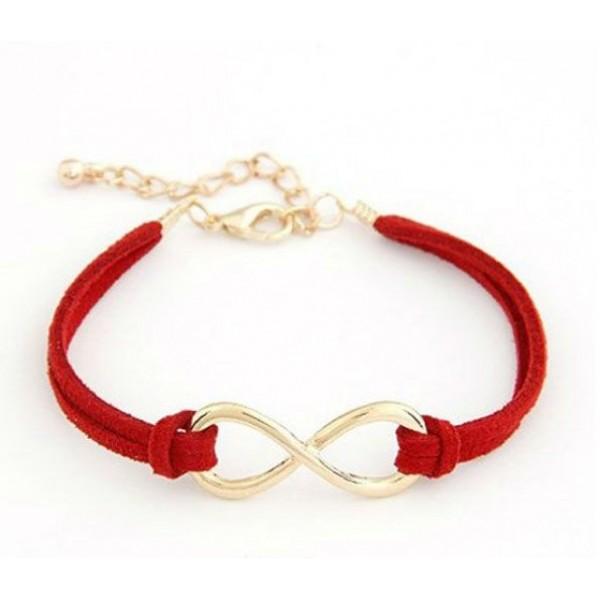 اسوارة انفنتي Infinity Charm Leather Bracelet
