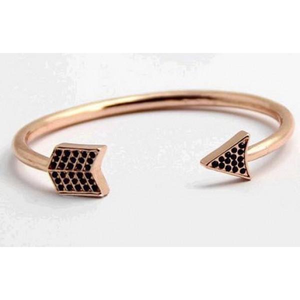 Antique Copper Plated arrow pattern cuff bracelet