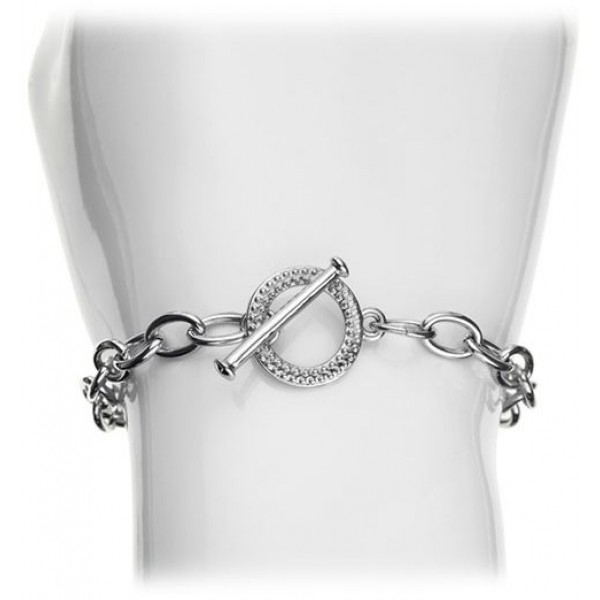 Diamond Style - White Gold-Plated Bracelet
