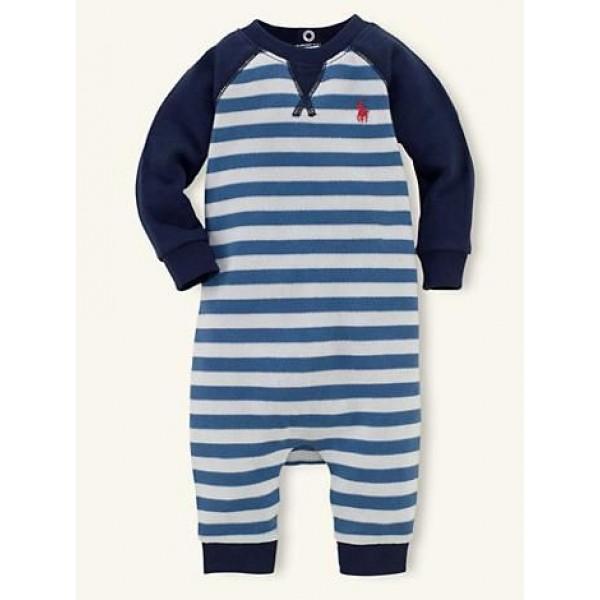 ملابس أطفال قطن من قطعه واحدة Ralph Lauren مقاس 6-9 أشهر