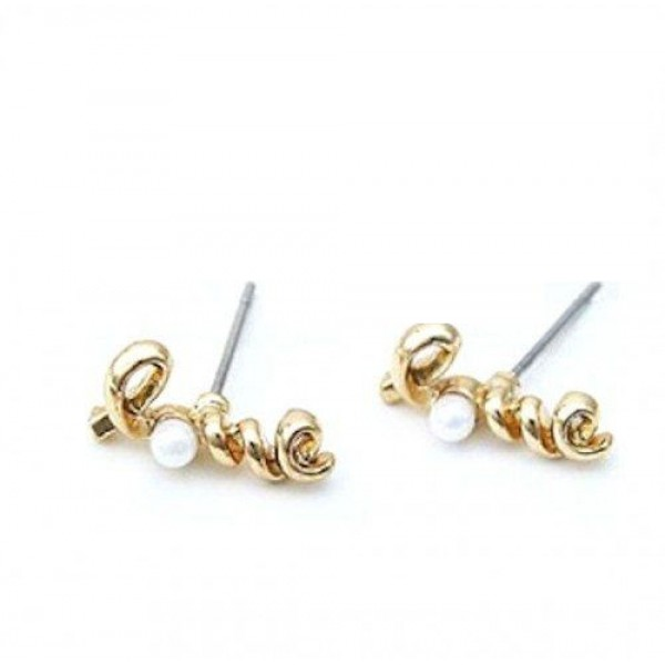 Love twister Pearl Studs