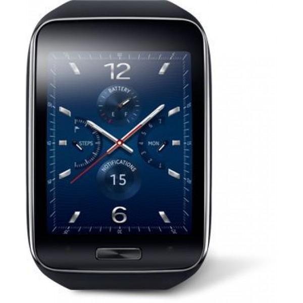 ساعة سامسونج جالكسي جير S الذكية - مع سوار بتصميم حزام - اسود