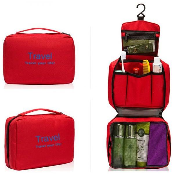 Waterproof Toiletry Bags - Red