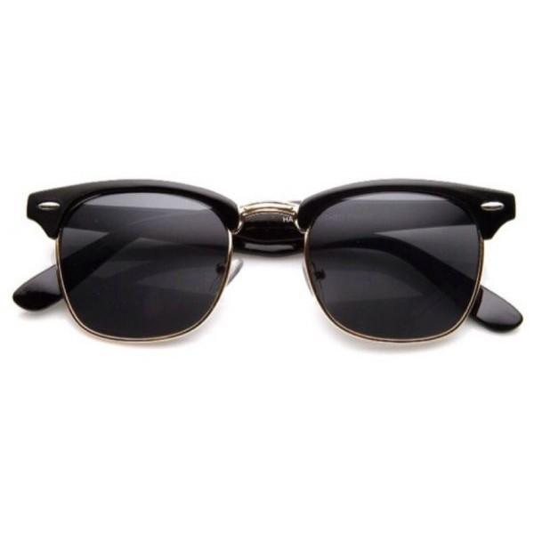 نظارات شمسية للجنسين بعدسات لون اسود
