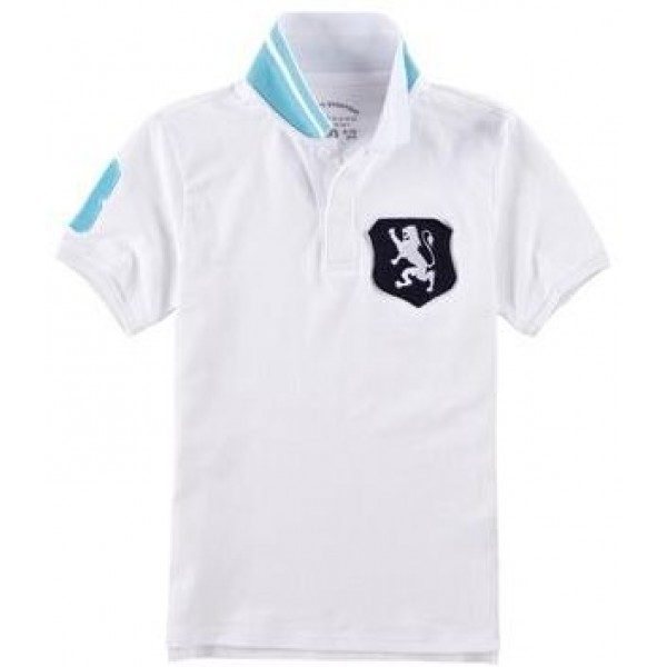Lion Badge Polo for Boys