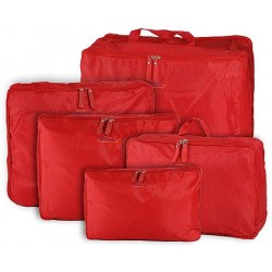 c6cd7bdb0242e 5-piece Travel Bag Organizer Set - Red