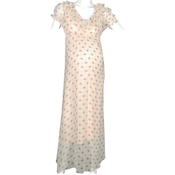 فستان للنساء الحوامل من لا سيجال- بيج, مقاس L