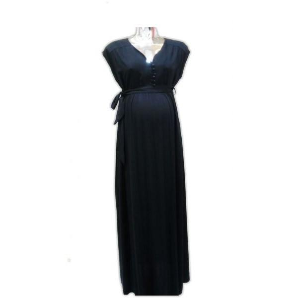 فستان للنساء الحوامل من لا سيجال- أسود, مقاس S