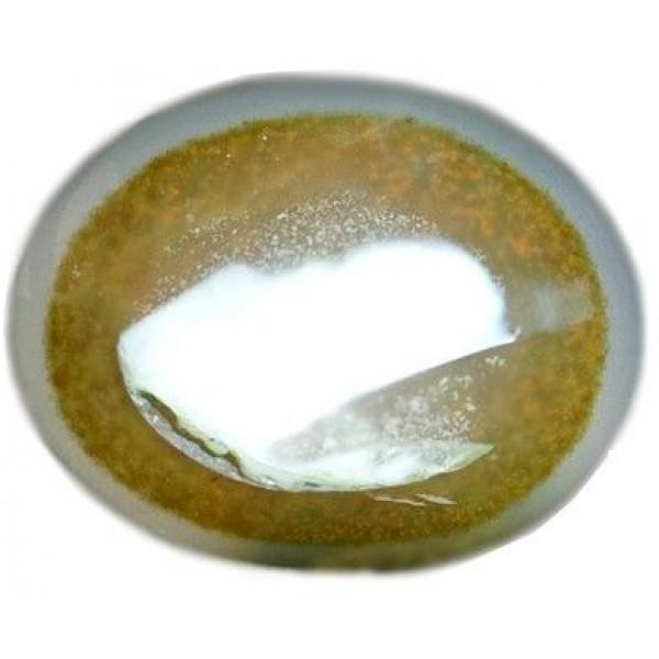 حجر عقيق يماني سليماني يشبه شكل العين البشرية بيضاوي الشكل بوزن 12.5 قيراط