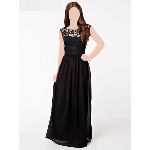 فستان نسائي طويل مقاس S