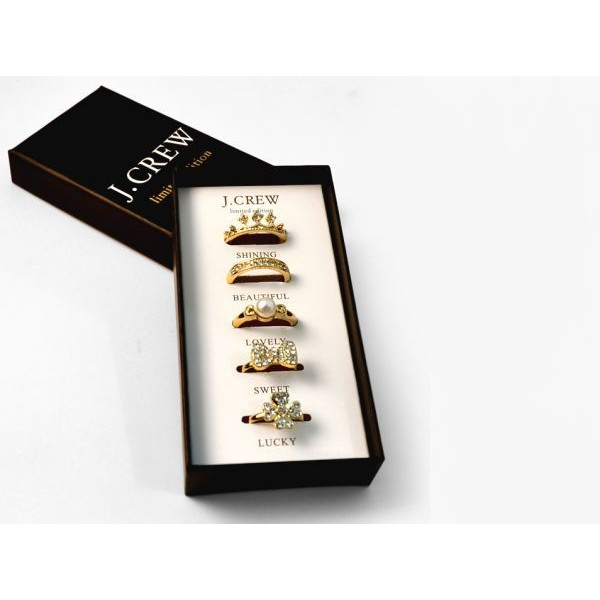 j.crew golden tone rings set