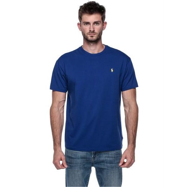 تي شيرت بكم قصير رجالي من رالف لورين, مقاس XL- أزرق