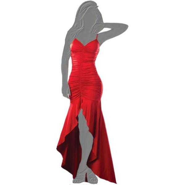 فستان سهرة طويل مقاس XL احمر اللون