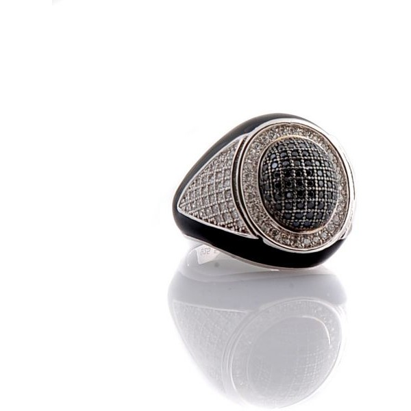 خاتم رجالي من شيبان مقاس - 6 أسود