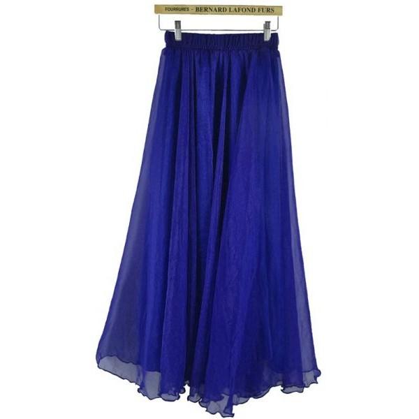 تنورة نسائي طويل شيفون مقاس XL