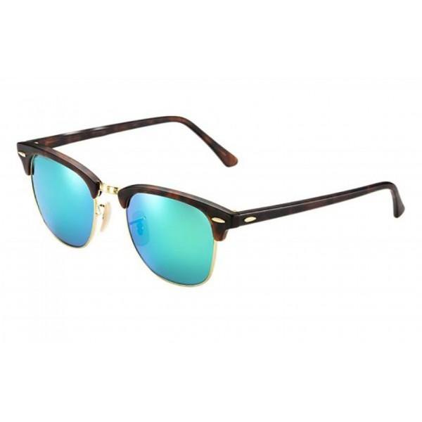 نظارة شمسية بعدسات خضراء مرايا للجنسين