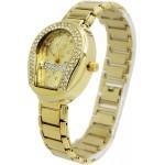 ساعة ماركة نيوفاندي استنلس استيل ذهبي