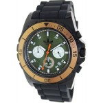 ساعة أديداس رجالي Adidas Men's Stockholm ADH2887 Black Rubber Quartz Watch with Green Dial