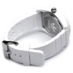 ساعة اديداس سانتياغو 42 بيضاء لكلا الجنسين بسوار من المطاط - ADH2921