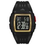ساعة اديداس دورامو Unisex سوداء رقمية للرجال بسوار من المطاط - ADP6136