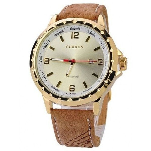 CURREN Man Watch Brown Leather
