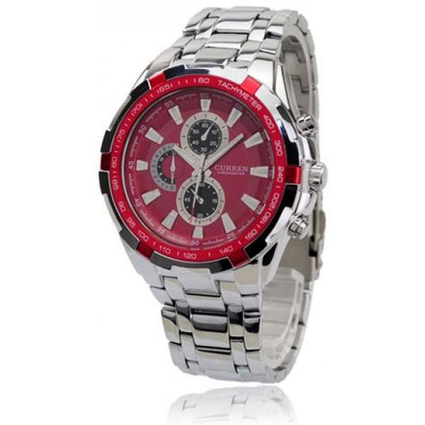 Curren Men Watches - Red