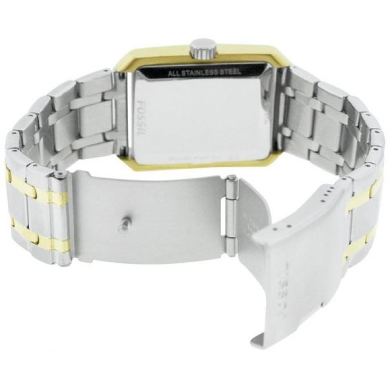 dba6c2b18 ساعة فوسيل رجالي أنيقة Fossil Men's FS4654 Silver Stainless-Steel Quartz  Watch with White Dial