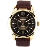 Curren Men Dress Business Leather Band Analog watch MN4700 Dark