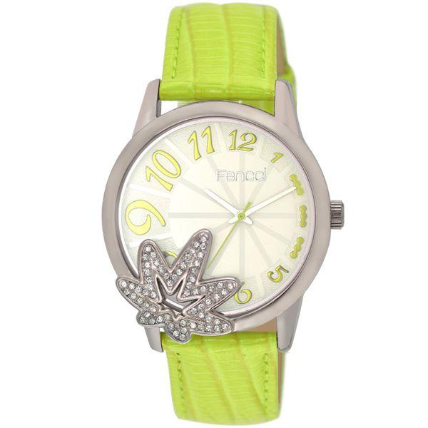 ساعة فينسي فضية للنساء بسوار من الجلد - 13F044F110811