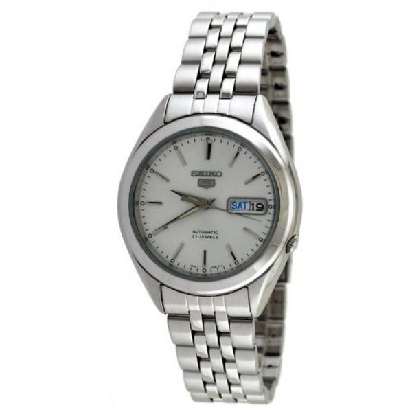 Seiko Men's Silver Dial Stainless Steel Band Watch [SNKL15]