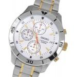 ساعة سيكو رجالي Seiko Men's SKS403 Analog Display Japanese Quartz Two Tone Watch