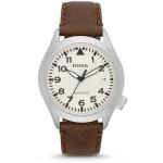ساعة أنيقة من فوسيل لون بني AM4514