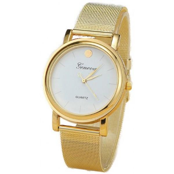 ساعة يد نسائية لون ذهبي جذاب