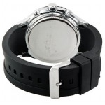 Curren Men's Black Dial Silicon Band Watch