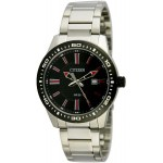 Citizen Men's Black Dial Stainless Steel Band Watch - BI1061-50E