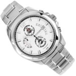 ساعة سيتيزن Citizen Men's Chronograph AN3420-51A Silver Stainless-Steel Quartz Watch with Silver Dial