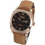 Curren Black Dial Gold Case Leather Band Watch